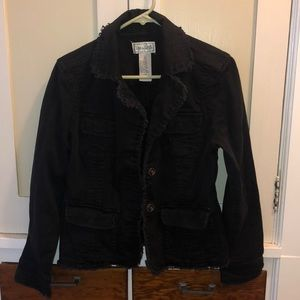 Extremely Cute Black Jean Jacket Size S